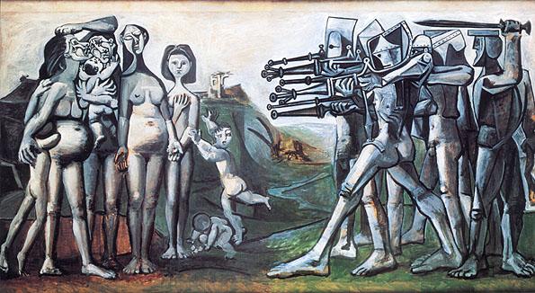 Massacre in Korea (1951) Pablo Picasso (Musée Picasso Paris)